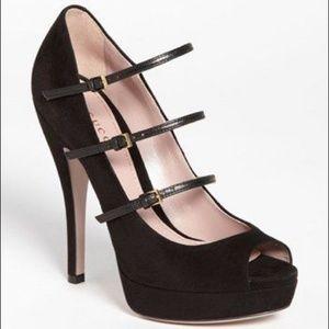Gucci High Heel Open Toe Pumps Shoes